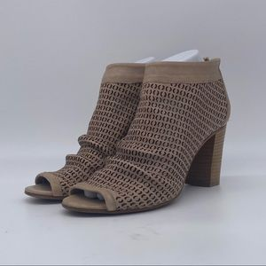 Ron White Shyla Peep Toe Leather Ankle Bootie NWOT